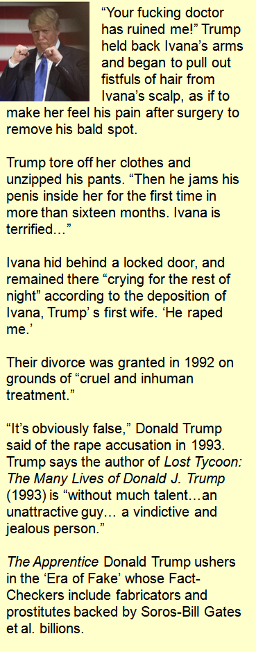 caption right trumps first wife ivana during their divorce had accused trump of raping her their divorce court papers were abruptly sealed without a